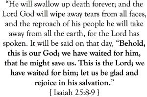 Isaiah 25:8-9