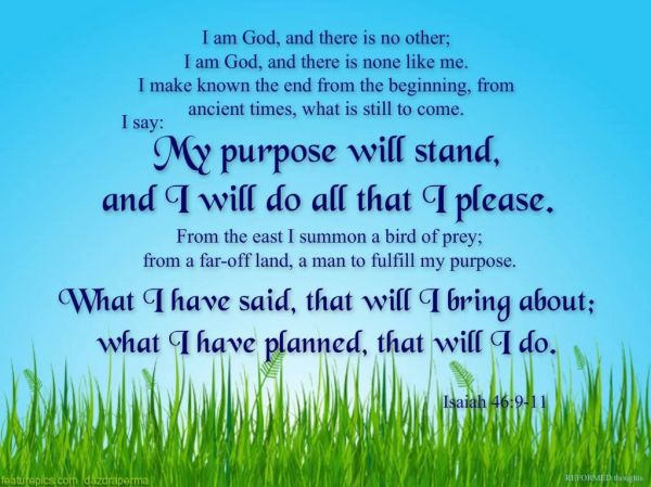 Isaiah 46:9-11: The Sovereignty of God: Chaiway